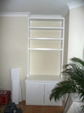 white bookcases